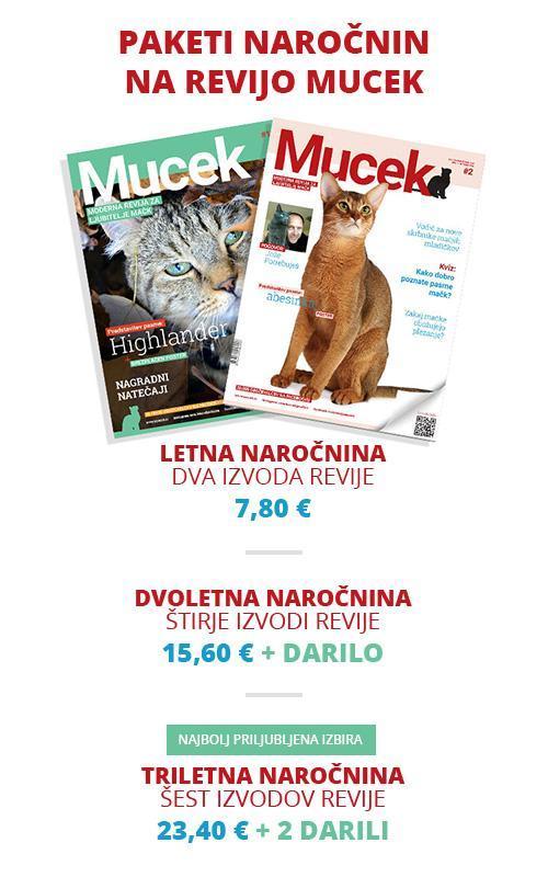Paketi naročnin na revijo Mucek